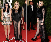 That's some material, girl: Madonna's risque outfit causes stir at after parties