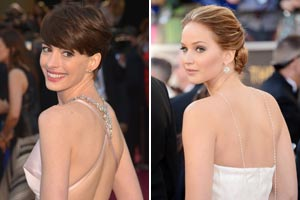 Oscars 2013 best accessories: Jennifer Lawrence and Anne Hathaway's winning reverse necklace trend