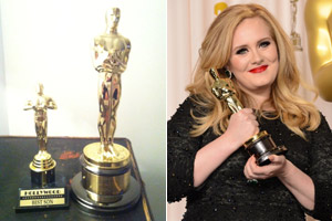 Adele tweets cute picture of baby Angelo's 'best son' Oscar