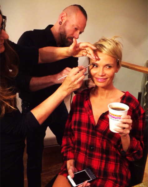 Kristin Chenoweth in hair and make-up