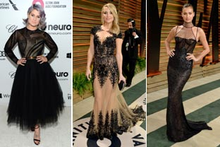 Oscars after-parties present ladies in black