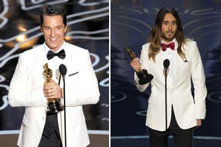 Matthew McConaughey and Jared Leto's heartfelt speeches