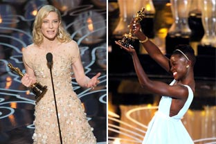 Cate Blanchett and Lupita Nyong'o are crowned queens of Hollywood